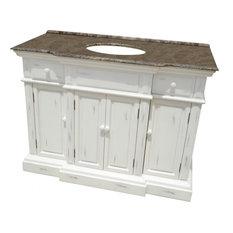 L K Designs Transitional Bathroom Vanity 48 Single Sink Vanities And
