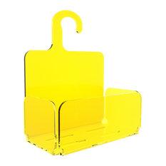 Modern Hanging Shower Organiser, Yellow
