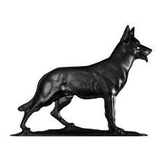 "30"" German Shephard Weathervane, Garden Black"