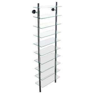 Maxwell Wall Mounted Glass Bathroom 10-Tier Shelf