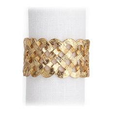 lobjet braid napkin rings luxdeco napkin rings - Objet Decomaison Moderne