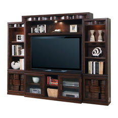 Parker House - Parker House Oslo 4-Piece Entertainment Wall, Coffee Stain - Media Storage