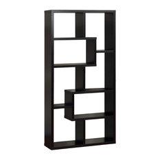 Rhea Modern Bookcase, Black