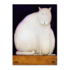 Daniel Patrick Kessler 'Fat Cat' Canvas Art, 24x18