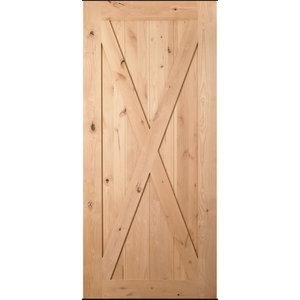 "Knotty Alder #184 Barn Door  - V-Groove Plank 2/6 x 7/0, 30""x84"""