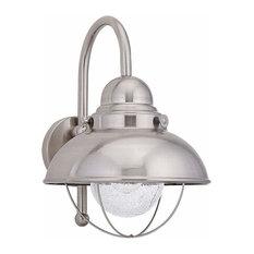 1-Light Wall Lantern Brushed Stainless
