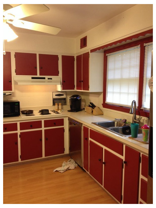 Paint Over Red Kitchen Cabinets