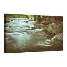 """Water Swirl"" Grunge Landscape Photo Fine Art Canvas Wall Art Print, 24""x36"""