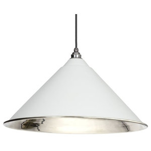 From The Anvil Hockley Pendant, Light Grey Smooth Nickel