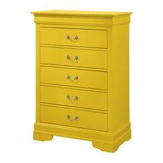 Louis Phillipe Chest, Yellow
