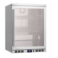 "24"" Undercounter Beverage Cooler Fridge, Heating Glass Beer Center"