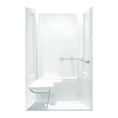 "Sterling Transfer 72""x39.3""x39.3"" Vikrell Alcove Shower Kit, White"