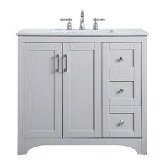 36 Inch Single Bathroom Vanity In Grey