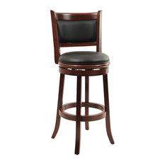 Boraam 29u0026quot augusta swivel stool cherry bar stools and counter