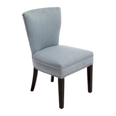 gdfstudio george dining chair ocean blue dining chairs - Blue Velvet Chair