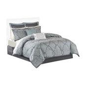 Madison Park Jacquard 12-Piece Comforter Set, Queen