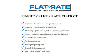 Flat Rate Listing Services