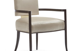 Reserved Seating Armchair, Sateen With Gold Metal Accents