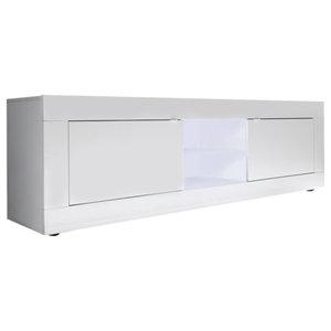 Dolcevita II Gloss TV Stand, White Gloss