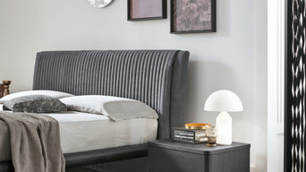 MARLENA bed, DOLCEVITA bedside table and chest-of-drawers