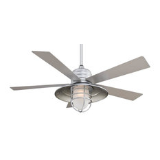Galvanized ceiling fans houzz minka aire minka aire rainman 54 indooroutdoor ceiling fan with wall control aloadofball Images