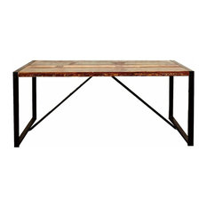 Urban Iron Framed Dining Table, 180 cm