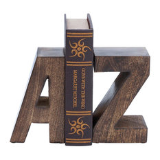 """Uppercase """"A to Z"""" 2-Piece Bookend Set"""