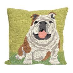 """Liora Manne - Frontporch Wet Kiss Pillow, Green, 18""""x18"""" - Outdoor Cushions and Pillows"""