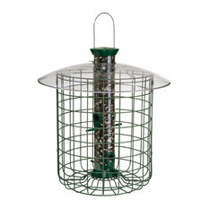 """Droll Yankees 15"""" Green Domed Cage Sunflower Feeder"""