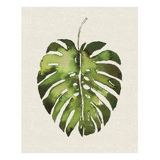 """""""Tropical Leaf"""" Canvas Print by Summer Thornton, 40x50 cm"""