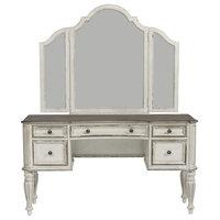 Liberty Magnolia Manor Vanity Desk and Mirror, Antique White