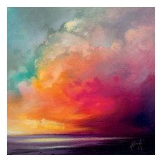 """Sunset Cumulus Study 1"" Printed Canvas by Scott Naismith, 85x85 Cm"
