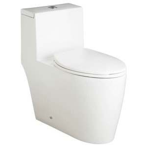 Mirabelle MIRSK241S Sitka 1.28 Gpf One-Piece Elongated Toilet, White