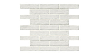 "Capella White Brick 2.33""x10"" Porcelain Floor and Wall Tile, Set of 1600"