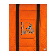 NFL Cleveland Browns Twin Comforter Sidelines Football Bed