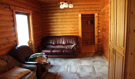 До и после: Бревенчатый дом для зимнего отдыха в Сочи
