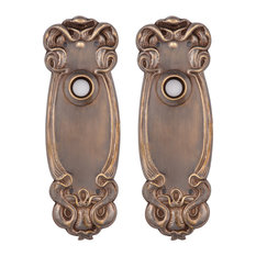 Avalon Privacy Back Plates, Hand Antiqued Brass