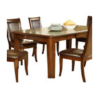 Steve Silver Leona Rectangular Dining Table In Dark Hand