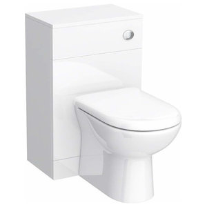 Back to Wall Toilet WC, White Ceramic With Concealed Cistern, Modern Design