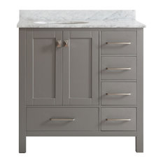 Vinnova   Gela Single Vanity, Gray, Without Mirror, 36
