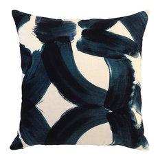 "Kosas - Rilo Printed 22"" Throw Pillow by Kosas Home, Indigo - Decorative Pillows"