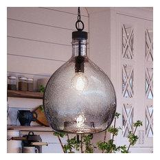 Luxury Modern Farmhouse Pendant Light, Hobart Series, Charcoal