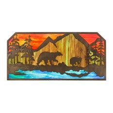 """45.5"""" Bear At Lake Wall Art"""