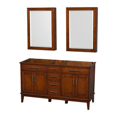 "Wyndham Collection, Hatton 60"" Double Bathroom Vanity, Light"