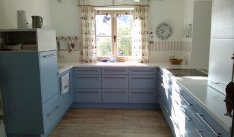 Küche im Ostsee-Look