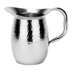 Hammered Double-Walled Stainless Steel Water Pitcher, 2 Qt., 64 Oz.