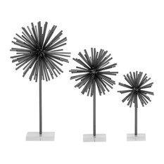 "GwG Outlet Metal Acrylic Sculpture Set of 3, 12"", 16"", 20"""