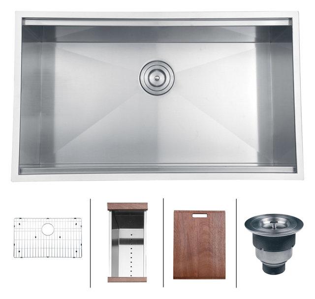 Ruvati rvh8300 undermount 16 gauge 32 kitchen sink single bowl ruvati rvh8300 undermount 16 gauge 32 kitchen sink single bowl workwithnaturefo