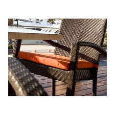 Patio Dining Arm Chair Cushion (Dolce-Mango)