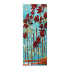 Abstract Tree Art 'Floating Dreams v1', Landscape Painting on Acrylic